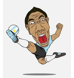Soccer player Argentina vector