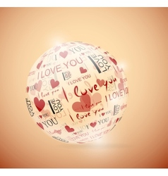 Sphere of love vector image vector image