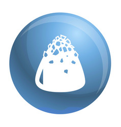 Sweet truffle icon simple style vector