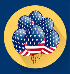 usa patriotic balloons colored specially for the vector image