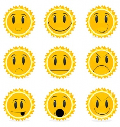 variations in moods vector image