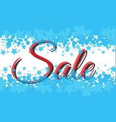Winter sale poster with sale text advertising vector