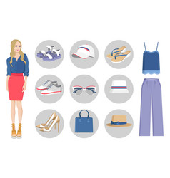 Woman collection of clothes vector