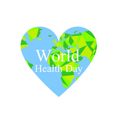 world health day the continents of the planet vector image
