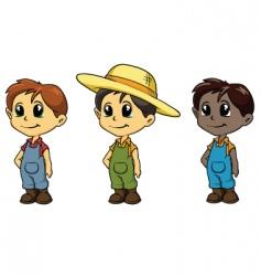 boy mascots vector image