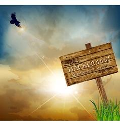 flying eagle background vector image