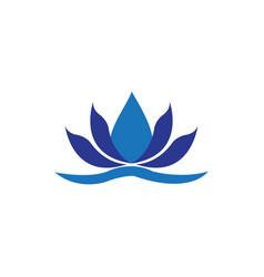 lotus spa logo vector image