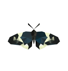origami butterfly isolated on white background vector image