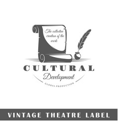 Theatre label vector