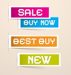 Colorful Paper Business Sale Labels vector image vector image