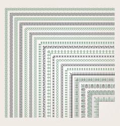 Decorative seamless border vector
