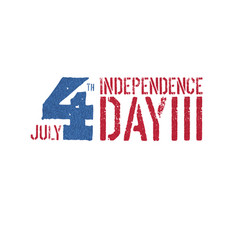 independence day 4th july logotype patriotic vector image vector image