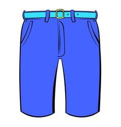 men shorts icon cartoon vector image