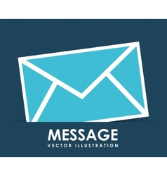 message icon design vector image