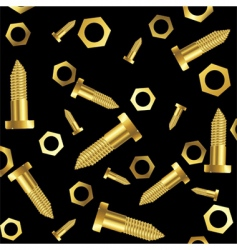 screws and nuts background vector image
