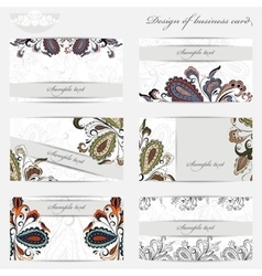 Business card with pattern vector image