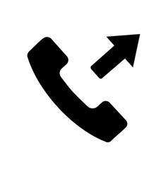 flat black call button icon vector image vector image