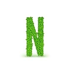 Green Leaves font N vector image vector image