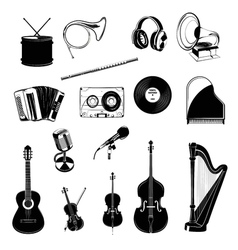 Musical Instrument Design Elements Set Horn vector image