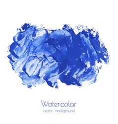 navy blue indigo watercolor texture vector image