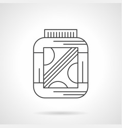 Amino protein supplement flat line icon vector