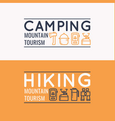 Conceptual for web a hike in vector