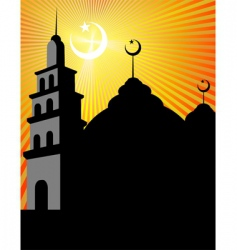 mosque vector image vector image