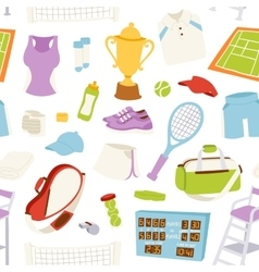 tennis pattern seamless vector image