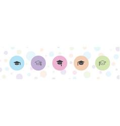 5 academic icons vector