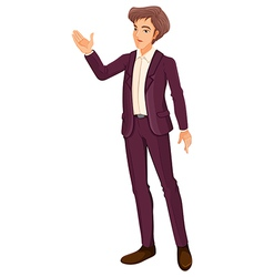 A businessman doing a hand signal vector
