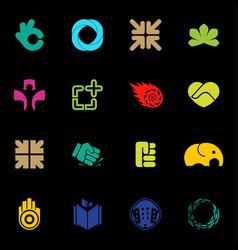 abstract logos set modern logo collection vector image