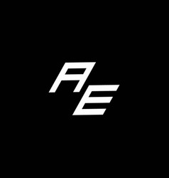 Ae logo monogram with up to down style modern vector