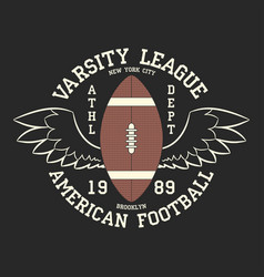 american football varsity league print logo vector image