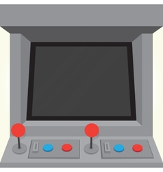 Arcade machine game cabinet isolated vector image