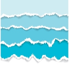 Background of blue torn paper vector image