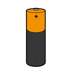 battery lithium isolated icon vector image