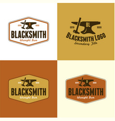 blacksmith logo vector image