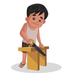 Boy cartoon character vector