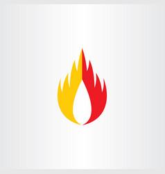 burn fire hot flame logo symbol icon element vector image