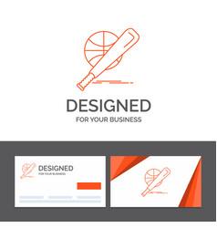 business logo template for baseball basket ball vector image