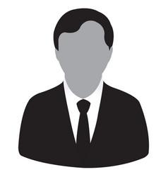 businessman black icon vector image