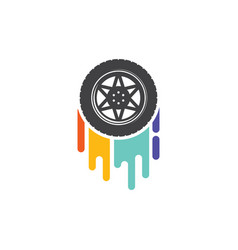 car wheel color track vector image