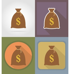 casino flat icons 13 vector image
