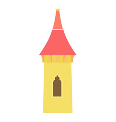 castle tower icon cartoon style vector image