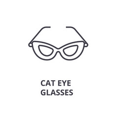 cat eye glasses line icon outline sign linear vector image