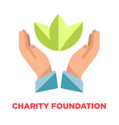 Charity foundation promotional logotype with open vector