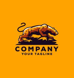 cheetah logo design vector image