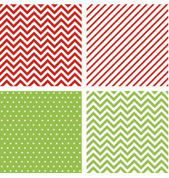 christmas seamless patterns minimal backgrounds vector image