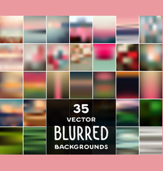 collection of 35 blurred backgrounds vector image