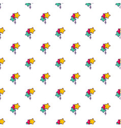 Colourful star shaped balloons pattern vector